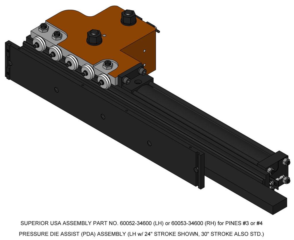 Bender Supply Superior USA Pines Bender Series 600 Pressure Die Holder Assembly #3 & #4