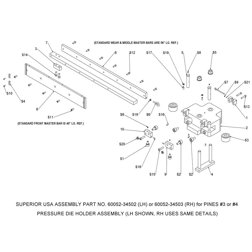 Pines Bender Series 600 Pressure Die Assist Upgrade (#3 & #4)