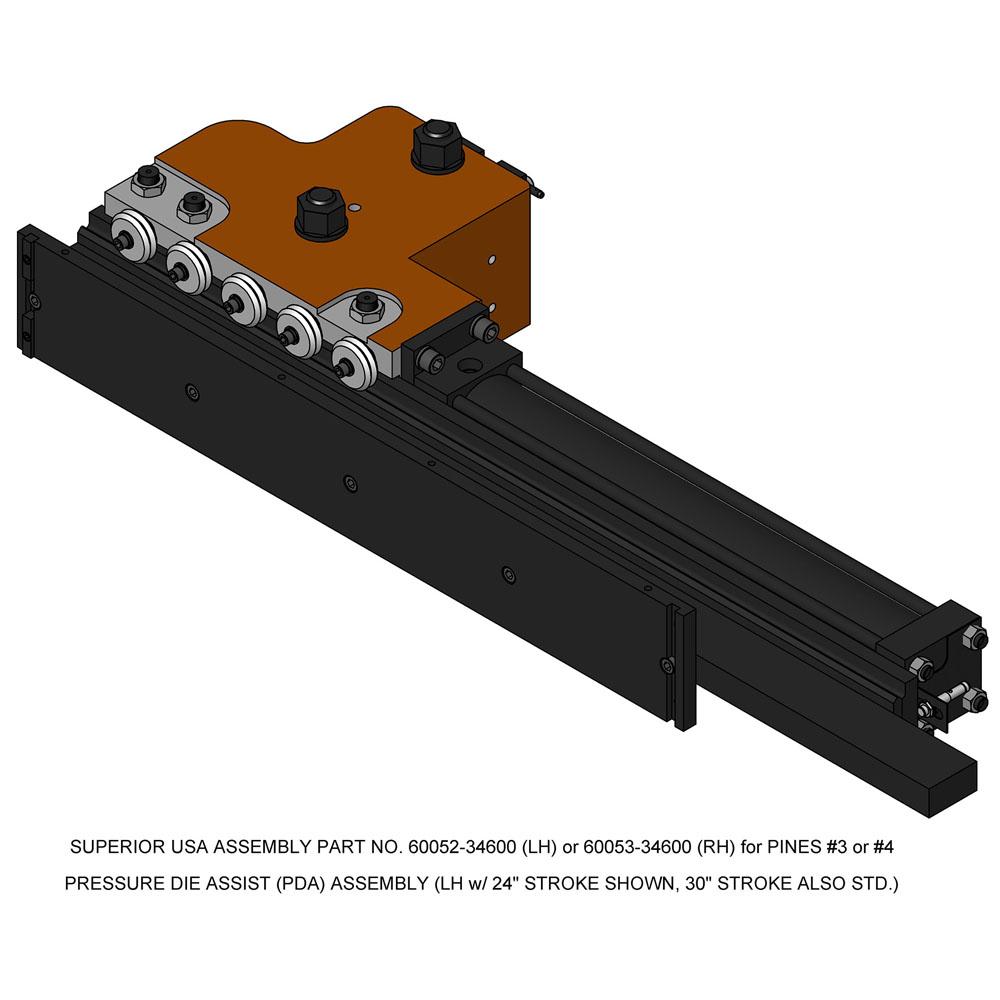 Pines Bender Series 600 Pressure Die Holder Assembly (#3 & #4)